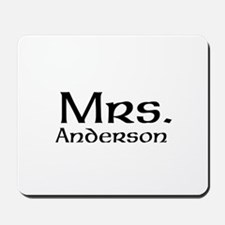 Personalized Mr and Mrs set - Mrs Mousepad