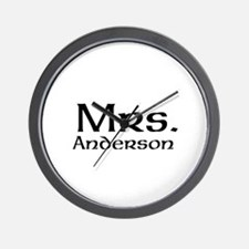 Personalized Mr and Mrs set - Mrs Wall Clock