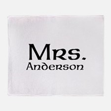 Personalized Mr and Mrs set - Mrs Throw Blanket