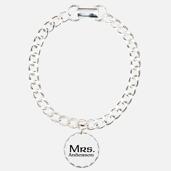 Personalized Mr and Mrs set - Mrs Charm Bracelet,