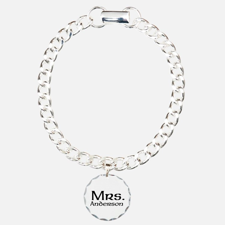 Personalized Mr and Mrs set - Mrs Charm Bracelet,