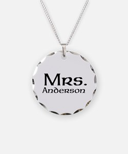Personalized Mr and Mrs set - Mrs Necklace
