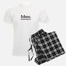Personalized Mr and Mrs set - Mrs pajamas