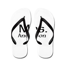 Personalized Mr and Mrs set - Mrs Flip Flops