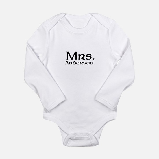 Personalized Mr and Mrs set - Mrs Body Suit