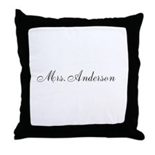 Half of Mr and Mrs set - Mrs Throw Pillow