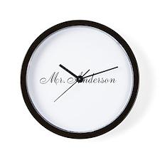 Half of Mr and Mrs set - Mr Wall Clock