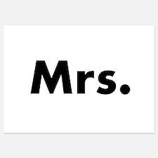 Half of Mr and Mrs set - Mrs Invitations