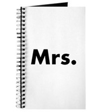 Half of Mr and Mrs set - Mrs Journal