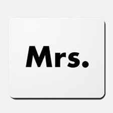 Half of Mr and Mrs set - Mrs Mousepad