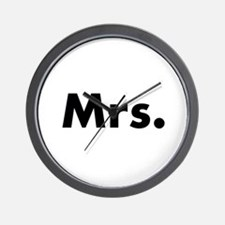 Half of Mr and Mrs set - Mrs Wall Clock