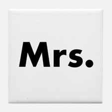 Half of Mr and Mrs set - Mrs Tile Coaster