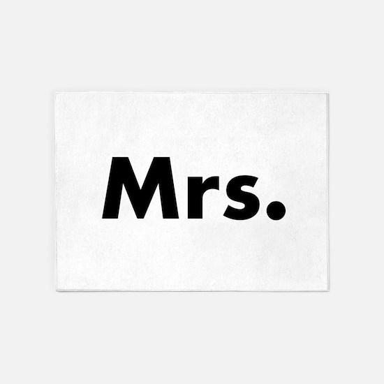Half of Mr and Mrs set - Mrs 5'x7'Area Rug