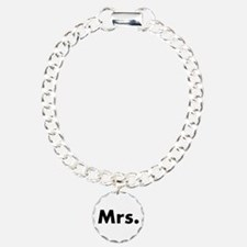 Half of Mr and Mrs set - Mrs Charm Bracelet, One C
