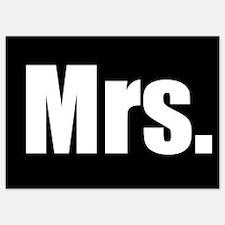 Mrs half of couples set - Black Invitations