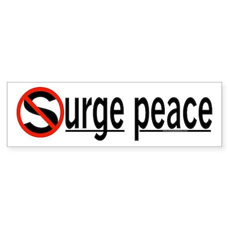 Surge Peace Bumper Sticker