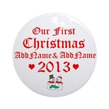 Our First Christmas 2014 Ornament (Round)