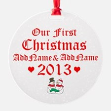 Our First Christmas 2014 Ornament