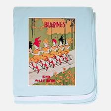 Bearings Bicycle Poster baby blanket
