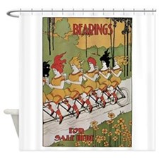 Bearings Bicycle Poster Shower Curtain
