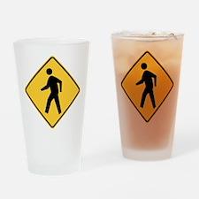 Pedestrian Drinking Glass