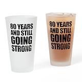 80 birthday Pint Glasses