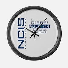 Gibbs' Rule #14 Large Wall Clock