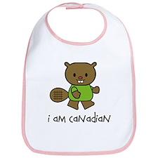 Beaver I am Canadian Bib