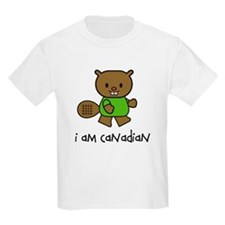 Beaver I am Canadian Kids T-Shirt