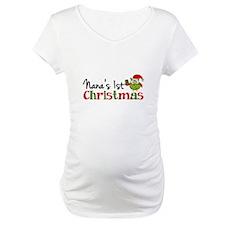 Nanas 1st Christmas Owl Shirt