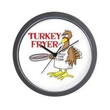 Turkey Fryer Wall Clock