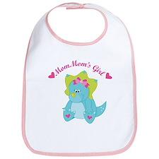 MomMom's Girl Dinosaur Bib