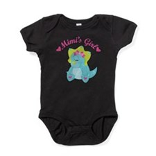 Mimi's Girl Dinosaur Baby Bodysuit