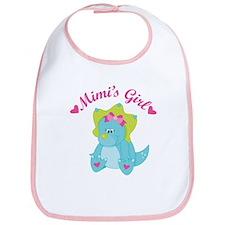 Mimi's Girl Dinosaur Bib