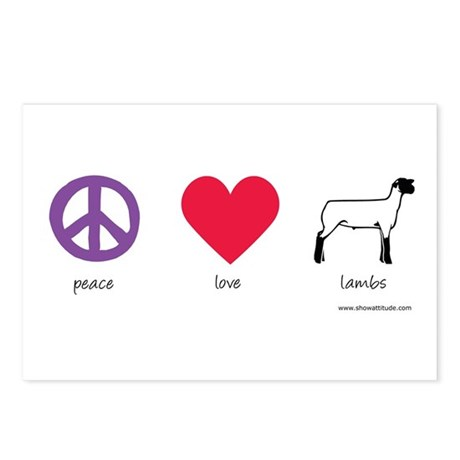 Peace Love Lambs Postcards (Package of 8)