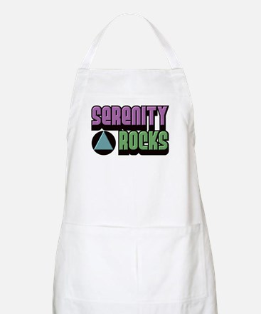 Serenity Rocks 12 Step Recovery BBQ Apron