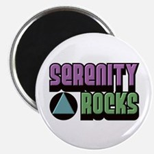 "Serenity Rocks 12 Step Recovery 2.25"" Magnet (100"