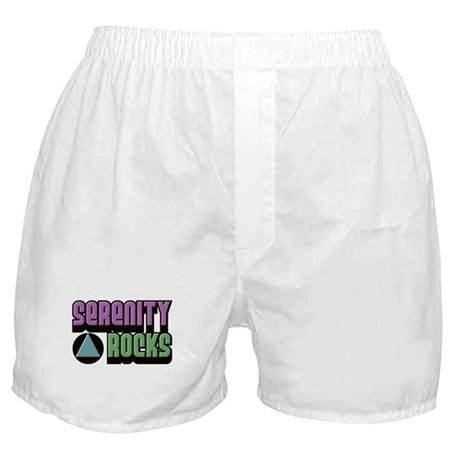 Serenity Rocks 12 Step Recovery Boxer Shorts