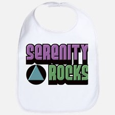 Serenity Rocks 12 Step Recovery Bib