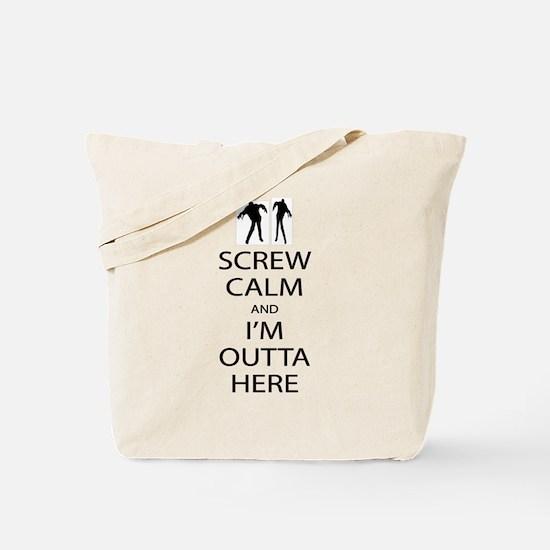 Screw Calm Bk Tote Bag