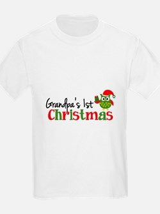 Grandpa's 1st Christmas Owl T-Shirt