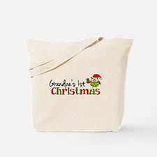 Grandpa's 1st Christmas Owl Tote Bag