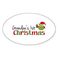Grandpa's 1st Christmas Owl Decal