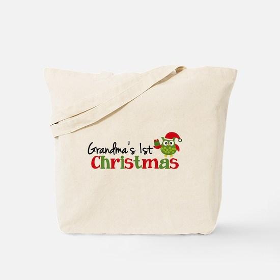 Grandma's 1st Christmas Owl Tote Bag