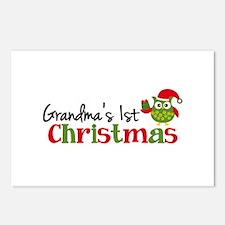 Grandma's 1st Christmas Owl Postcards (Package of