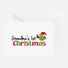 Grandma's 1st Christmas Owl Greeting Cards (Pk of
