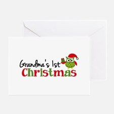 Grandma's 1st Christmas Owl Greeting Card