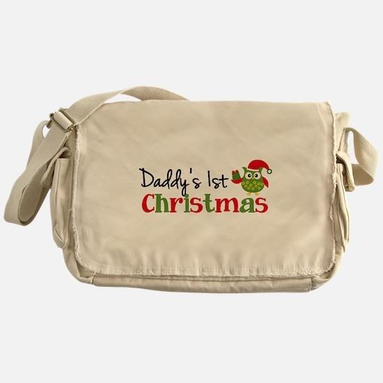 Daddy's 1st Christmas Owl Messenger Bag