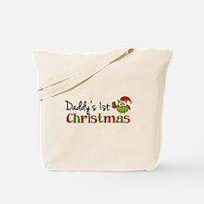 Daddy's 1st Christmas Owl Tote Bag