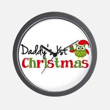 Daddy's 1st Christmas Owl Wall Clock